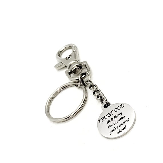 Prayer Gift, Trust God Keychain, Christian Gifts, He Is Fixing The Situation, Big Faith Gifts, Bigger Faith, Christian Keychain, Faith Quote