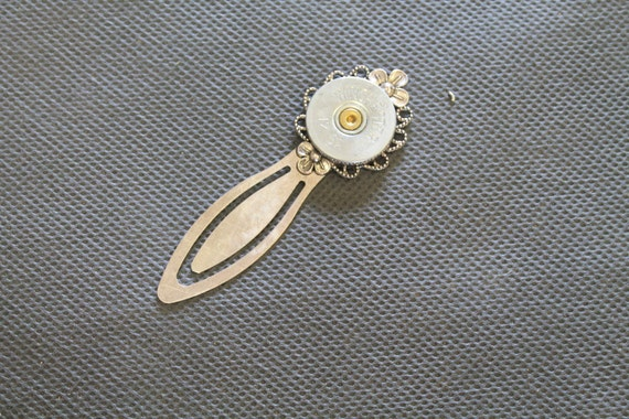 20 Gauge Shotgun Shell Silver Head Bookmark; Shooting Sports Jewelry; Shotgun Shell Jewelry; Shotgun Shell Bookmark