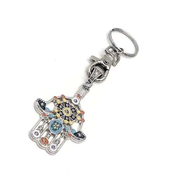 Hamsa Keychain, Good Luck Keychain, Hand Of Fatima Pendant, Protection Pendant Keychain, Hamsa Jewelry Gift For Her, Hamsa Pendant