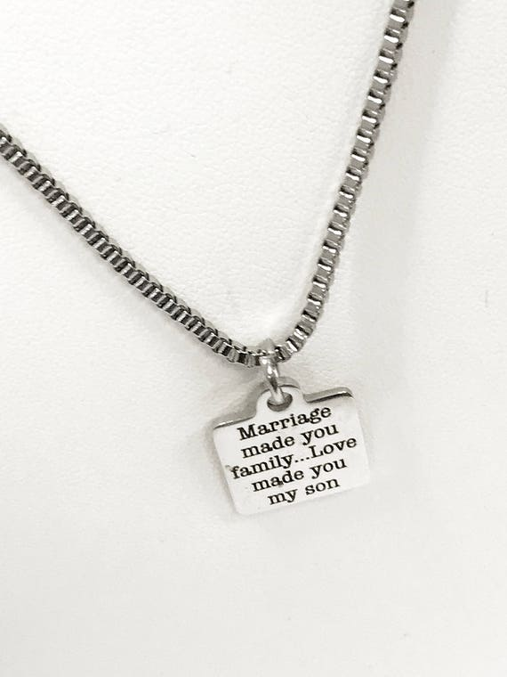 Son In Law Gift, Love Made You My Son Necklace, Stepson Gift, Son In Law Necklace, Stepson Necklace, Son In Law Wedding Gift, Stepson Love