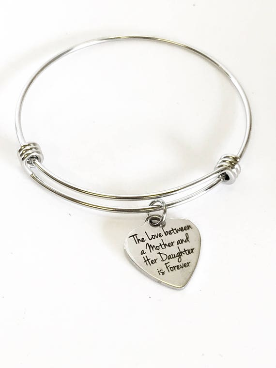 Mother Daughter Bracelet, The Love Between A Mother And Her Daughter Is Forever Bracelet, Daughter Gift, Gift For Daughter, Gift For Mom