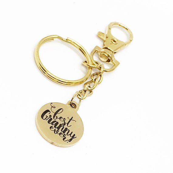 Best Granny Ever Keychain, Granny Gift, Pregnancy Announce, Grandmother Gift, New Grandmother, Grandmother Names, Grandparents Day Gift