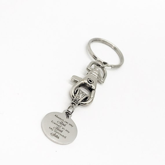 Sister Keychain, Always On My Mind, Forever In My Heart, My Beloved Sister, Sister Memorial, Remembering My Sister, Loss Of Sister Gift