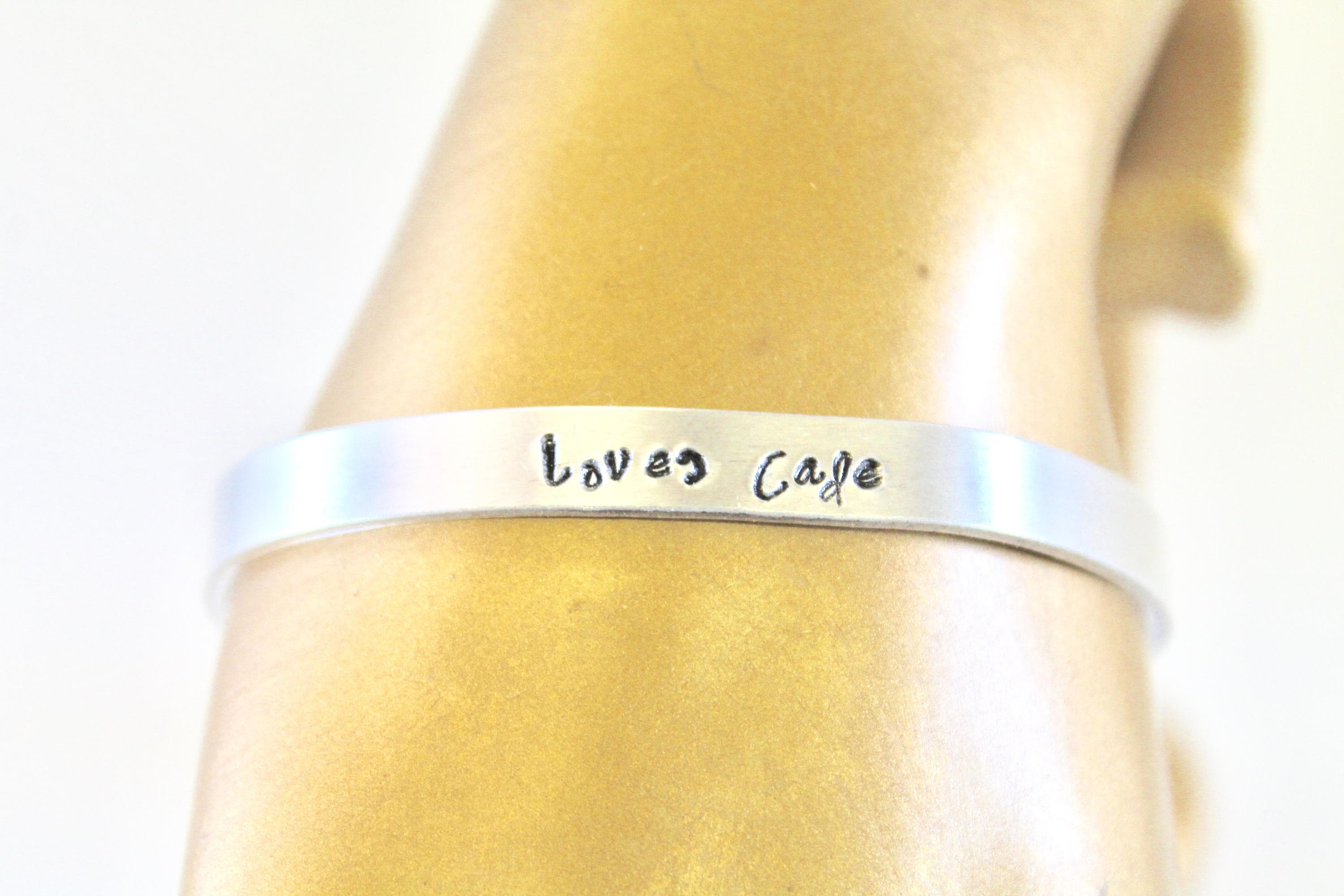 b1d9954f62933 Personalized Hand Stamped Cuff Bracelet, Gift For Her, Gift For Mom ...