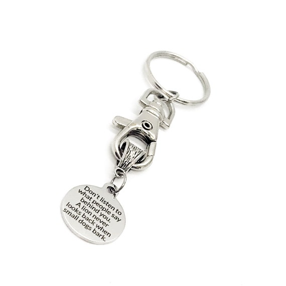 Motivation Gift, Don't Listen To Those Behind You Keychain, Encouragement Gift, Encouraging Her, Encouraging Him, Daughter Gift, Son Gift
