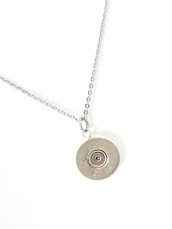 Shotgun Shell Pendant, Shotgun Shell Necklace, 20 Gauge Shell Pendant, Shotgun Shell Jewelry, Shooting Sports Pendant, Southwestern Style