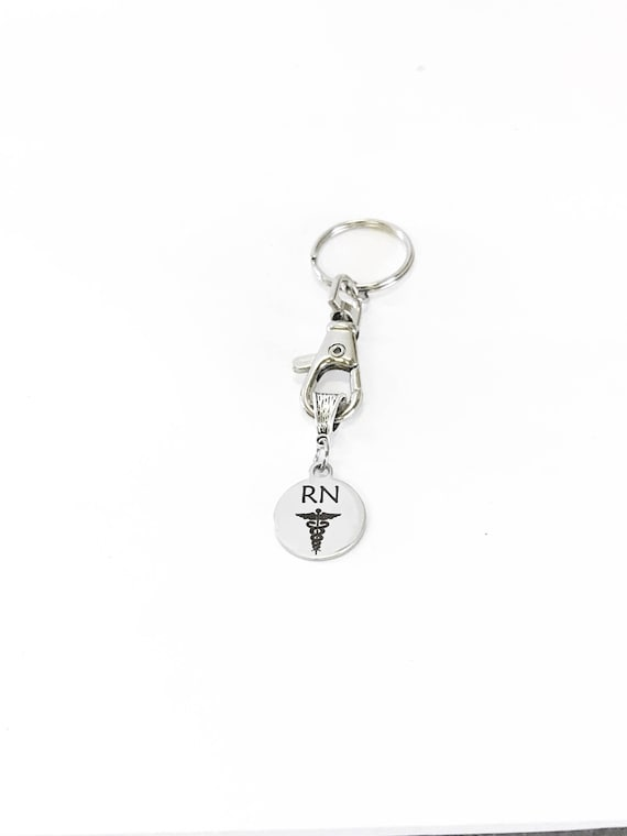 RN Keychain Gift, Registered Nurse Gifts, Nurse Graduation Gift, Traveling Nurse Gifts, Favorite Nurse, RN Gifts, Employee Gifts for Nurses