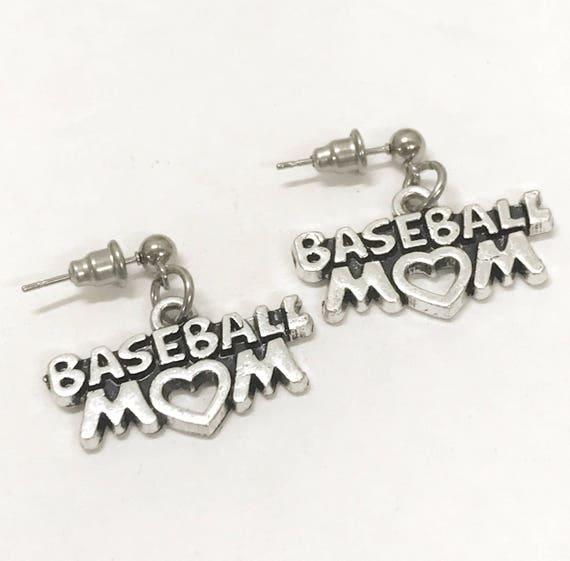 Baseball Gifts, Baseball Earrings, Baseball Mom Gifts, I Love Baseball Earrings, Baseball Jewelry Gifts, Baseball Team Mom Gifts,