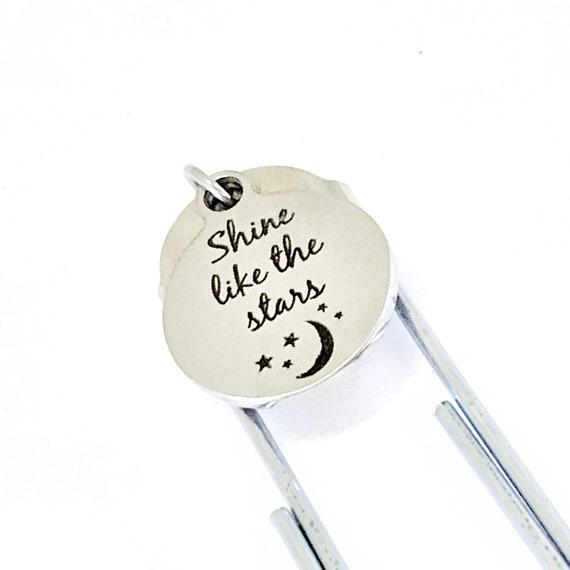 Encouraging Gift, Shine Like The Stars Bookmark, Daughter Gift, Encouraging Bookmark, Encouraging Her, Journaling Gift, Planner Bookmark