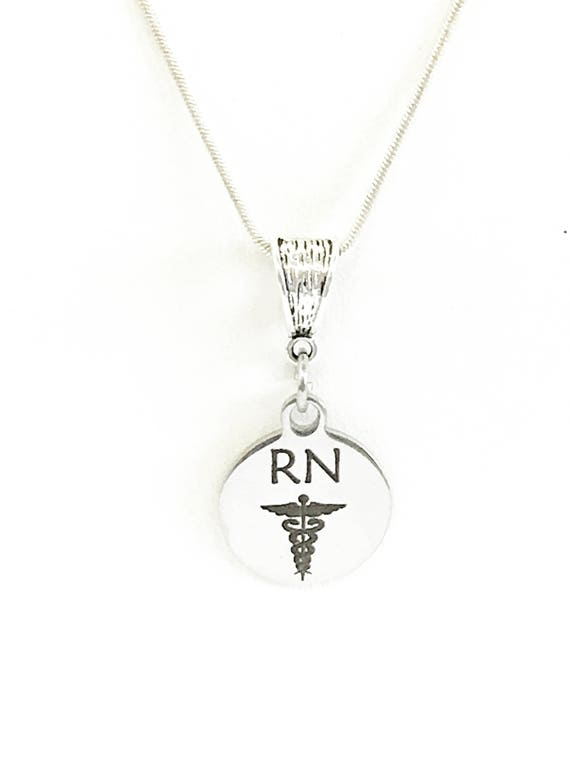 Nurse Gift, RN Necklace, RN Gift, Registered Nurse Gift For Her, RN Graduation Gift, Registered Nurse Daughter Gift, Nurse Jewelry Gift