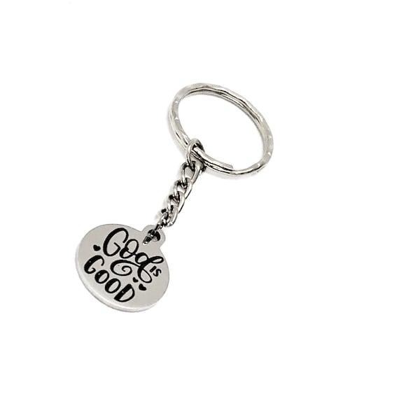 Faith Gift, God Is Good Keychain, Christian Gift, Christian Keychain, Thankfulness, Gods Favor Keychain, Favor Of God