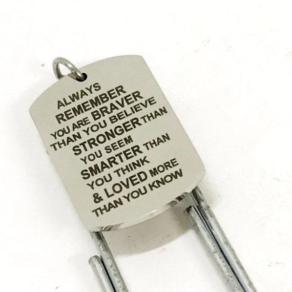 Encouragement Gift, Braver Stronger Smarter Loved Bookmark, Encouraging Bookmark, Reader Gift, Student Athlete Gift, Son Gift, Daughter Gift