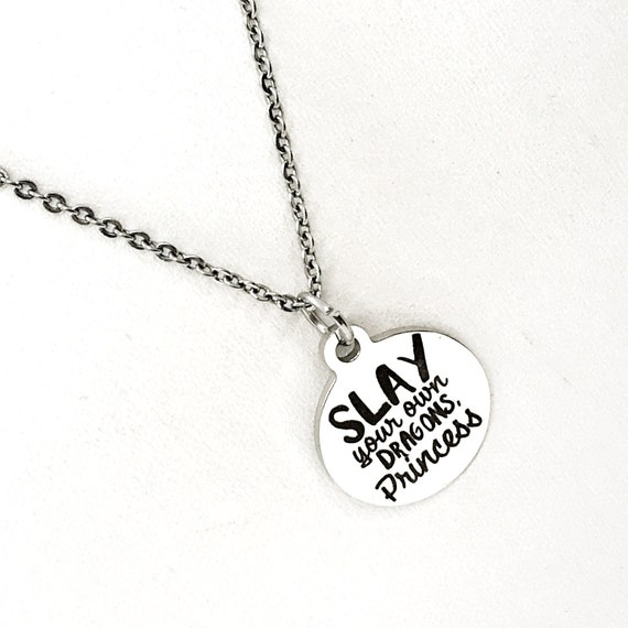 Daughter Gift, Slay Your Own Dragons Princess Necklace, Princess Gift, Daughter Jewelry, Granddaughter Gift, Gift For Her, Princess Jewelry