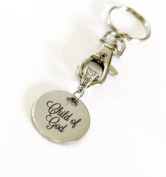 Christian Gifts, Christian Keychain, Baptism Gift, Child of God Keychain Gift For Him, New Car Gift For Her, New Home Gift for Them, Key Fob