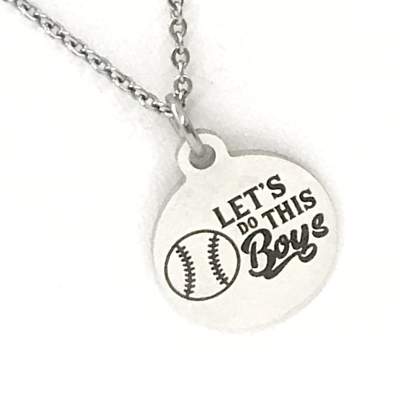 Baseball Gift, Let's Do This Boys Necklace, Baseball Necklace, Baseball Jewelry, Baseball Player Gift, Baseball Mom Gift, Baseball Easter