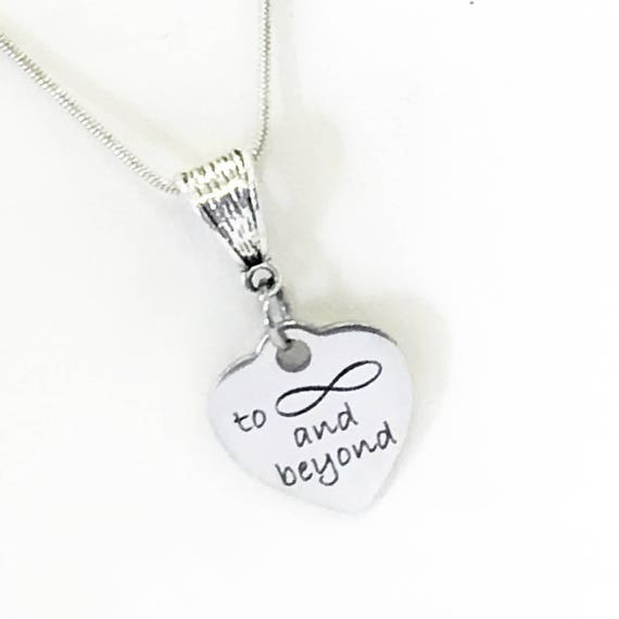 Love Gifts, Love Jewelry, To Infinity And Beyond Silver Necklace, Daughter Jewelry, Girlfriend Gift, Wife Jewelry Gift, Gift For Her