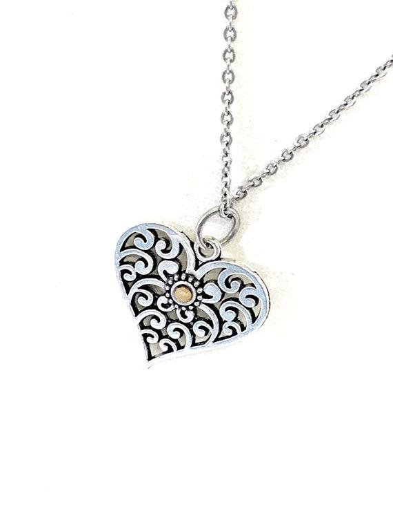 Mustard Seed Heart Necklace, Mustard Seed Jewelry, Mustard Seed Faith, Mustard Seed Necklace, Christian Jewelry, Christian Necklace Gift