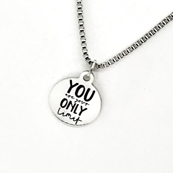 Man Necklace, You Are Your Only Limit Necklace, Son Gift, Son Necklace, Encouraging Him, Success Quote, Success Gift, Son Motivation Gift