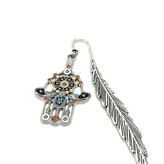 Hamsa Bookmark, Hand Of Fatima Bookmark, Protection Bookmark, Hamsa Charm, Charm Bookmark, Reader Gift, Graduation Gift, Planner Charm