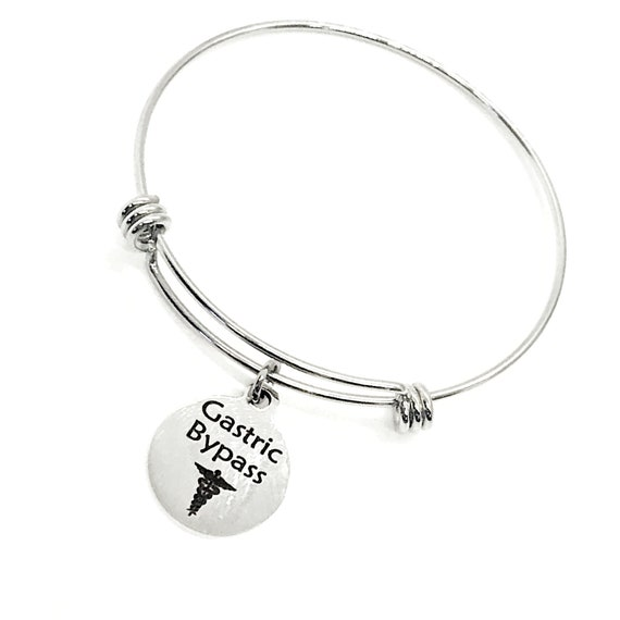 Gastric Bypass Medical Charm Bracelet, Gastric Bypass Awareness, Gastric Bypass Jewelry, Weight Loss Gift, Medical Notification Charm