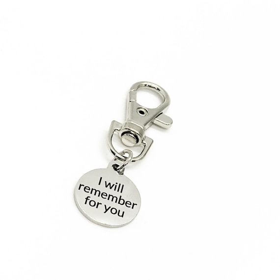 Love Gift, I Will Remember For You Clip On Charm, Dementia Caregiver, Alzheimer's Family Gift, Caregiver Gift, Remembering Our Love