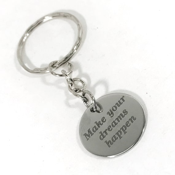 Make Your Dream Happen Keychain, Success Gifts, Direct Sales Team Incentives, Encouragement Gift, New Job Gift, New Year Resolution Gifts
