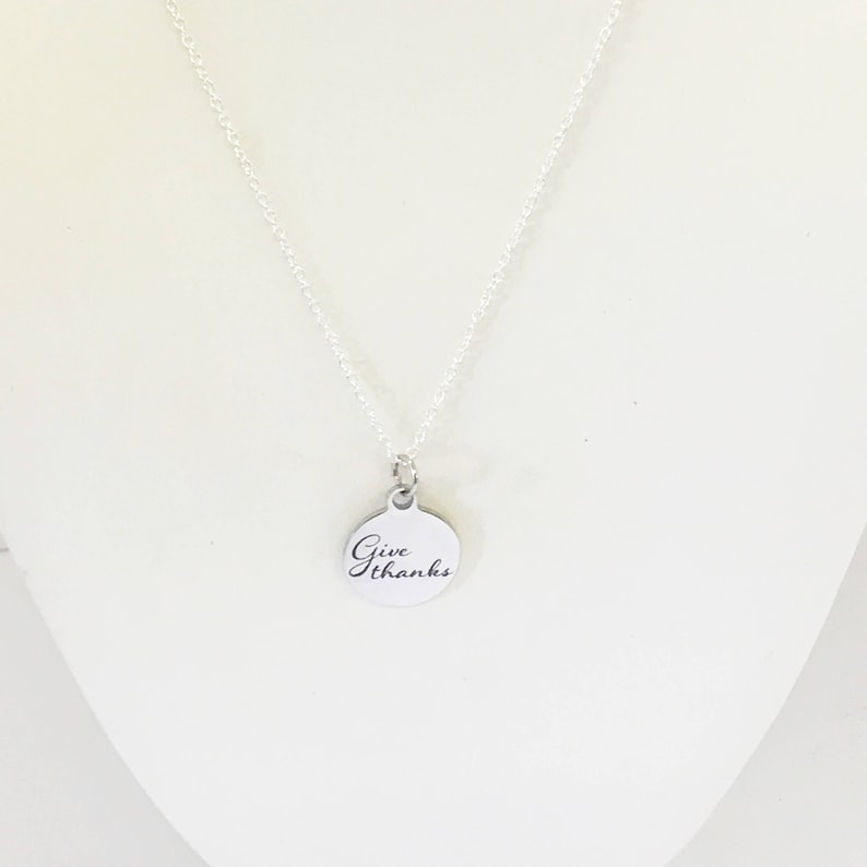 Thanksgiving Jewelry Wife Jewelry Daughter Jewelry Always Thankful Give Thanks Necklace Thanksgiving Gift Give Thanks Gift For Her
