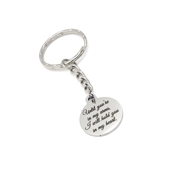 Remembrance Gift, Until You're In My Arms, I Will Hold You In My Heart Keychain, Pregnancy Loss, Miscarriage Gift, Sympathy Gift