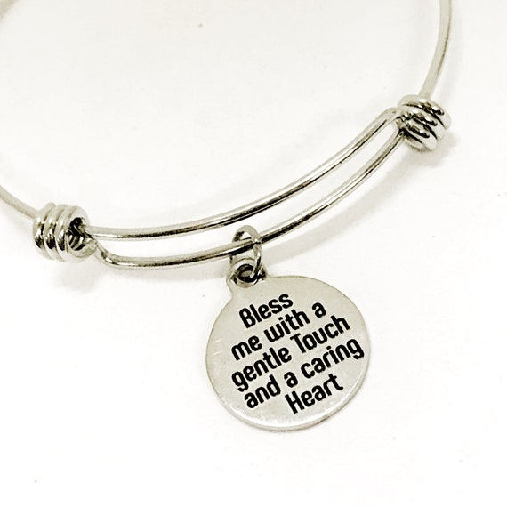Nurse Bracelet, Nurse Gift, Nurse Prayer, Bless Me With A Gentle Touch And A Caring Heart Bracelet, Nursing Student Bracelet, Nursing Gift