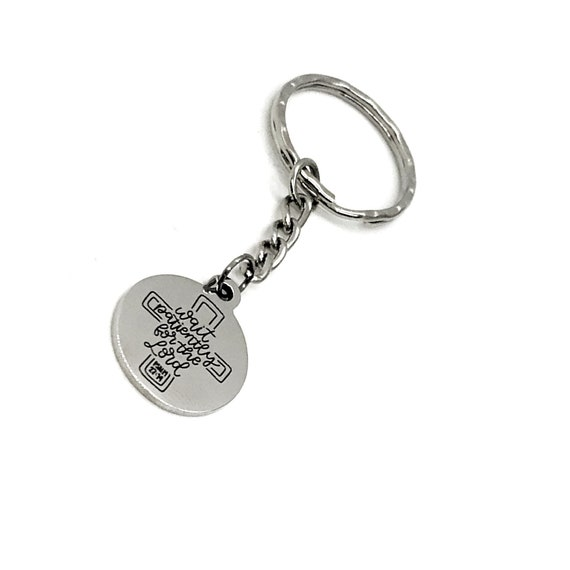 Faith Gift, Wait Patiently On The Lord Keychain, Psalms 27 14, Christian Keychain, Faith Keychain, Sunday School Gift, Scripture Quote