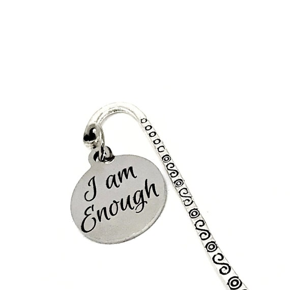 I Am Enough Bookmark, Journal Bookmark, Motivating Gift, Affirmation Gifts, Affirming Quote, Charm Bookmark, Planner Bookmark, Reader Gift