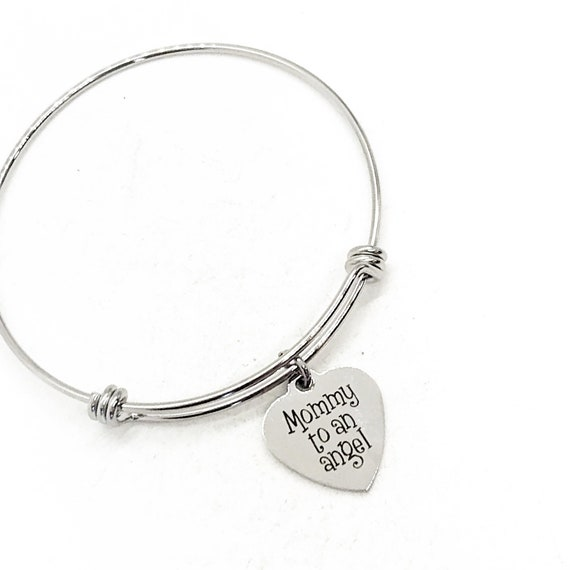 Miscarriage Gift, Mommy To An Angel Bangle, Pregnancy Loss Gift, Miscarriage Memorial, Memorial Gift, Baby Loss Gift