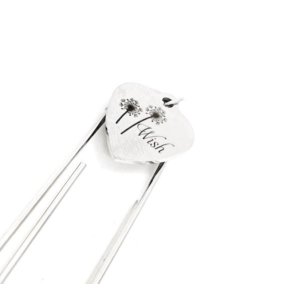 Dandelion Wish Bookmark, Charm Bookmark, Dream Big, Wishes, Reader Gift, Encouragement Gift, Motivating Gift, Paperclip Bookmark