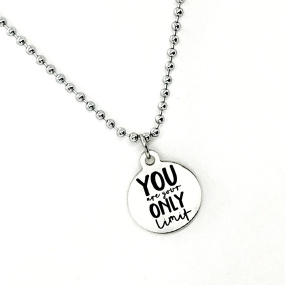 Man Necklace, You Are Your Only Limit Necklace, Son Necklace, Man Jewelry Gift, Son Gift, Encouragement Gift For Son, Encouraging Son
