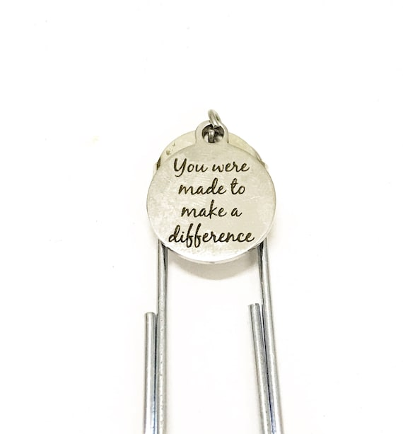 Planner Bookmark, Planner Paper Clip Bookmark, You Were Made To Make A Difference Bookmark, Motivational Planner Gifts, Encouragement Gift