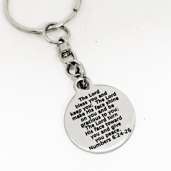 Christian Gift, Scripture Blessing, The Lord Bless You And Keep You Keychain, Christian Keychain Gift, Christian Charm, Scripture Gift