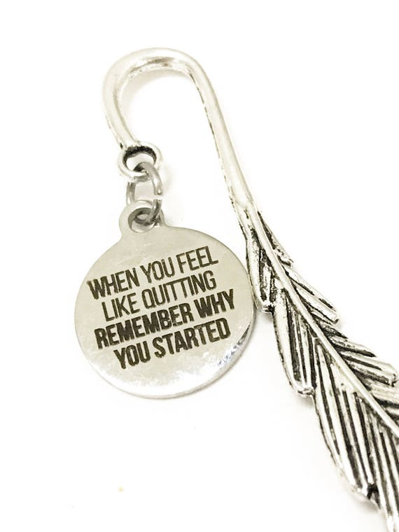 Motivating Gifts, When You Feel Like Quitting, Remember Why You Started Bookmark, Encouraging Gifts, Direct Sales Team Gifts, Success Gift