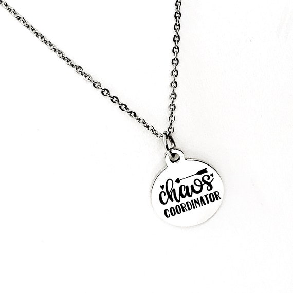 Mom Gift, Chaos Coordinator Necklace, Mom Necklace, Gift For Here, Wife Jewelry Gift, Entrepreneur Gift, Boss Gift, Girlfriend Gift