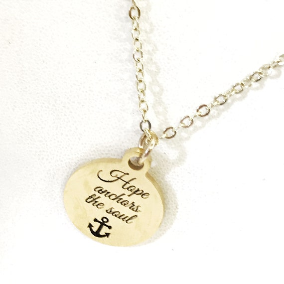 Christian Gift, Hope Anchors The Soul Necklace, Christian Necklace, Christian Woman Gift, Gift For Her, Hebrews 6 19 Necklace, Sympathy Gift