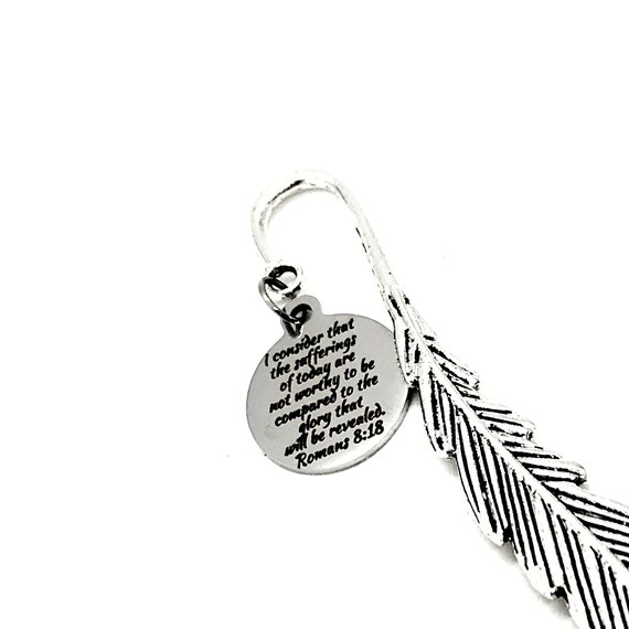 Bible Bookmark, Glory To Be Revealed Bookmark, Romans 8 18 Bookmark, Bible Gift, Christian Bookmark, Bible Scripture Charm, Planner Charm