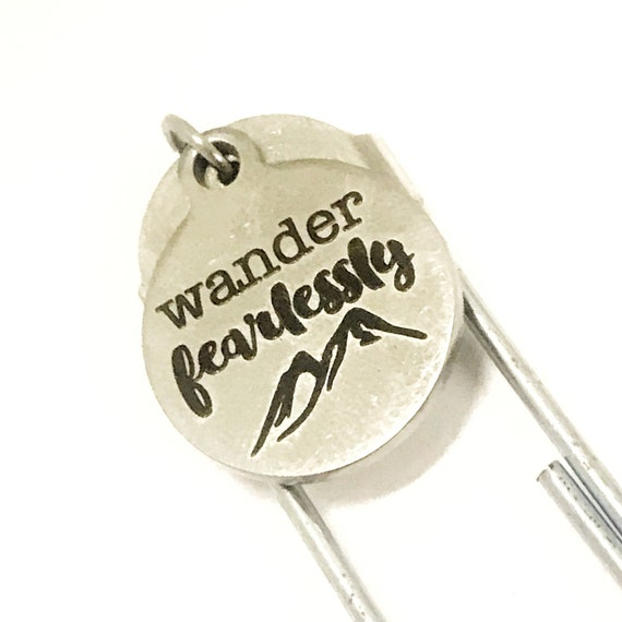 Travel Gift, Travel Lover Gift, Wander Fearlessly Bookmark, Travel Journal Bookmark, Planner Bookmark, Bookmark Gift