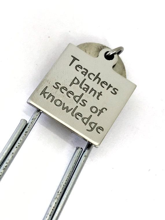 Planner Bookmark, Teachers Plant Seeds Of Knowledge Bookmark, Teacher Bookmark, Teacher Gift, Planner Accessories, New Teacher Planner Charm