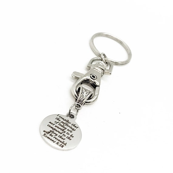 Motivating Gift, Sufferings Of Today Keychain, Glory That Will Be Revealed, A Better Day Is Coming, Happy Future Gift, Romans 8 18 Charm
