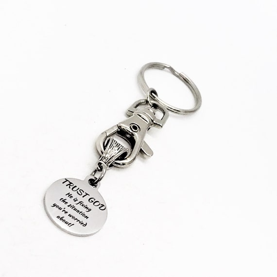 Faith Gift, Trust God Keychain, Keychain Gift, Faith Keychain, Christian Keychain, Christian Gift, God Is Fixing The Situation