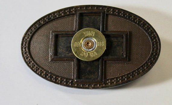 Rustic Finish Shotgun Shell Cross Belt Buckle, Southwestern Style, Gift For Her, Girlfriend Gift, Valentines Day Gift, Valentine Gift
