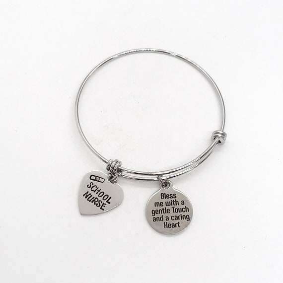 School Nurse Gift, Nurse Prayer, Bless Me With A Gentle Touch And A Caring Heart Bracelet, School Nurse Bracelet, Nurse Gift