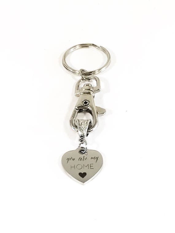 Love Keychain, You Are My Home Keychain, Gift For Wife, Gift For Mom, Mom Valentine Gift, Girlfriend Gift, New Home Gift, Valentine Day Gift