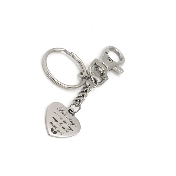 Memorial Gift, His Wings Were Ready, My Heart Was Not Keychain, Husband Memorial, Dad Memorial, Brother Memorial, Remembering Him, Son Loss