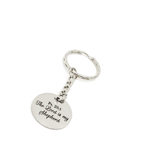 Scripture Gift, The Lord Is My Shepherd Keychain, Psalm 23 1, Christian Keychain, Scripture Quote, Christian Gift, Baptism Gift