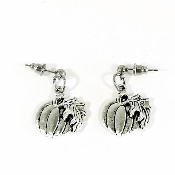Pumpkin Earrings, Fall Jewelry, Fall Gift, Pumpkin Jewelry, Gift For Her, Thanksgiving Earrings, Thanksgiving Jewelry Gift, Fall Earrings